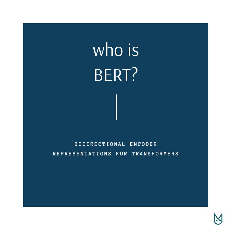 Who is BERT?